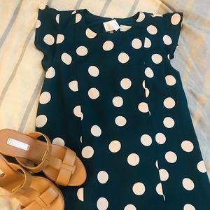LOFT midi polka dot dress